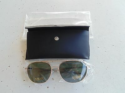 Usn Navy Naval Aviation Chief Cpo Wo Officer Gold Frame Aviation Glasses + Case