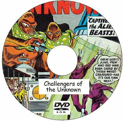 Challengers of the Unknown Classic Comic Collection 109 Issues on DVD Paranormal