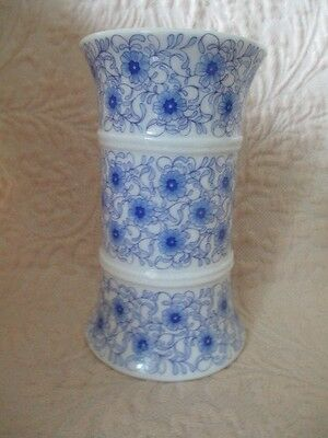 German Blue and White Sectional Vase
