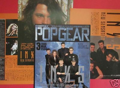 INXS Michael Hutchence 1988 CLIPPING JAPAN MAGAZINE PG 3A 6PAGE