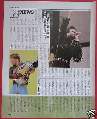 George Michael 1988 Clipping Japan Magazine Pg 3A