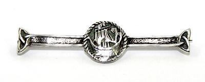 IONA, Viking Long Ship, Sterling Silver Brooch, CHESTER 1947, Perfect