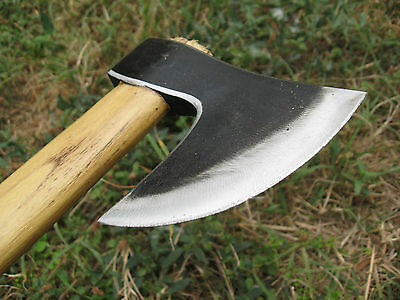 1.08 Lbs Forged Wrought Bearded Camping Axe Viking Tomahawk Hatchet Hunting Tool