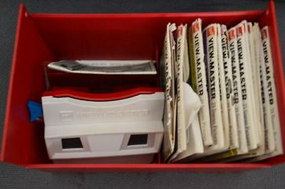 Vintage Viewmaster with 6 reel sets and case