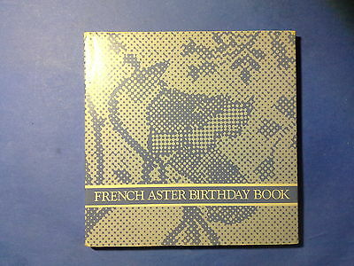 French Aster Birthday Book, by Avon 1985, unused