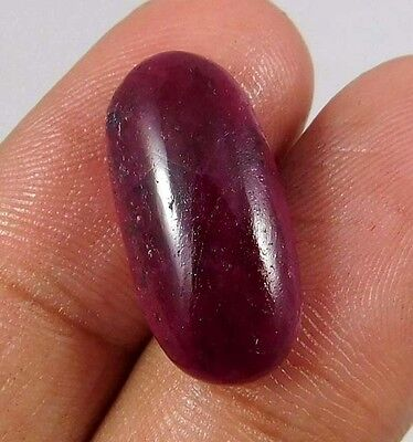 12.50 Cts. NATURAL FABULOUS DYED RUBY LOOSE CAB GEMSTONE (AQ897)