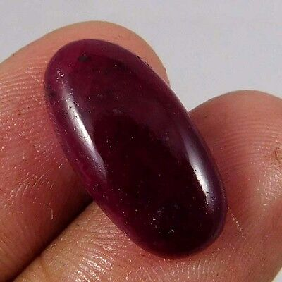 12.60 Cts. NATURAL DYED RUBY LOOSE CAB GEMSTONE (AQ932)