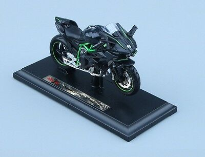 High Quality 1:18 Kawasaki H2R Motorcycle Diecast Model Maisto W/Base Model Toy