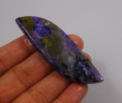 64 Cts. 100% Natural Charoite Loose Cabochon Gemstone (NH457)