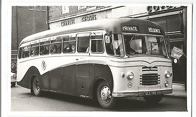 Reliance Motor Bus Coach Newbury ?Real Photo Vintage Postcard 9.1