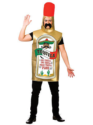 Adult Tequila Mexican Worm Bottle Party Novelty Freshers Fancy Dress Costume