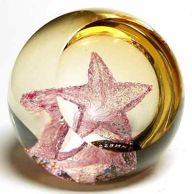Caithness Glass WEE STAR GOLD Paperweight 5595960
