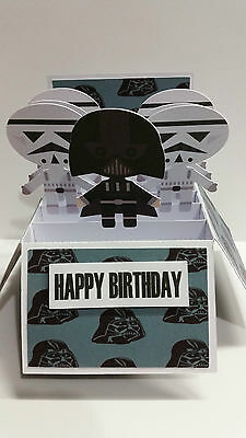 Handmade birthday Card Darth Vader Personalised Dad Pop Father's Day Husband 2