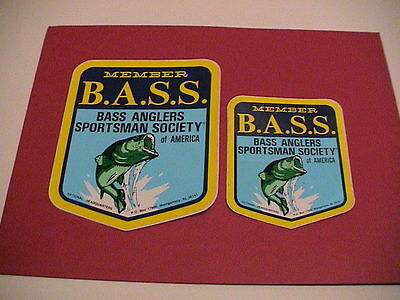 Lot /2 Sizes Bass Anglers Sportsman Society Fishing Fish Boat Sticker Decals