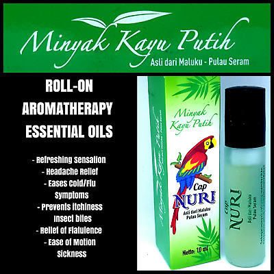 NURI Roll-On Aromatherapy Medicated Oil relieve headache motion sickness 10ml