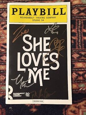 Beautiful Autographed She Loves me Broadway Playbill LAST ONES!