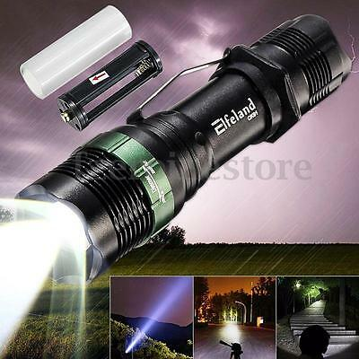 Elfeland 5000LM T6 LED Flashlight Zoomable 18650/AAA Camping Torch Lamp Light