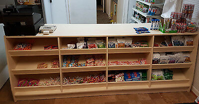 Details about  Retail Counter Shop Confectionary Display 2,5 METER LONG