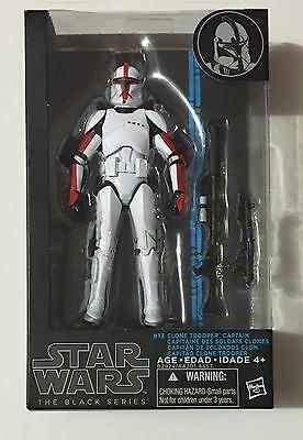 Star Wars The Black Series 6 inch Clone Trooper Captain #13 Action Figure 2014
