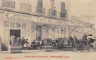 Cpa 66 Port Vendres Cafe Du Commerce Montagnac Proprietaire
