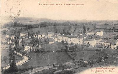 Cpa 81 Angles Du Tarn Le Faubourg Embourg