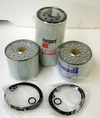 Spin On Oil Filter+2 Fuel Filters For Massey Ferguson 135 Tractor Perkins 3.152