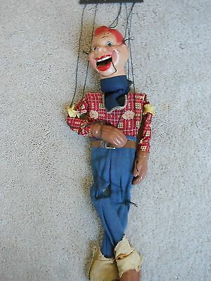 Vintage Howdy Doody String Puppet/ Marionette Doll, Origianl Clothing