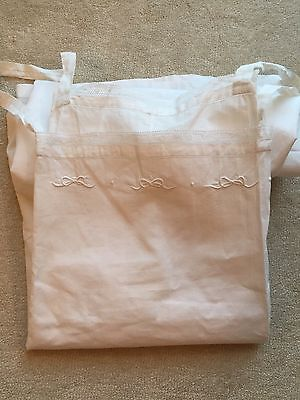 1920's French Chemise Slip Petticoat Lace Embroidery Old Stock Medium To Large
