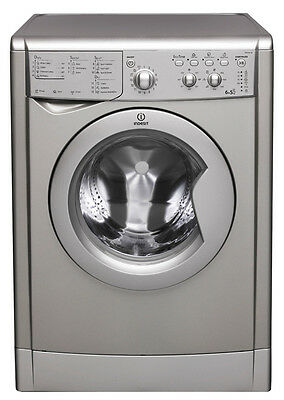 SILVER Indesit Ecotime IWDC 6125 Washer Dryer ~ 6KG load, with 1200 rpm