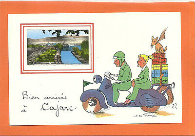 Ancienne Carte Postale De Cajarc (Lot,46) Avec Vespa/ancient Postcard