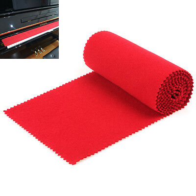 Red Soft Piano Key Cover Dust Cover Suit for Any 88 Key Piano or Keyboard