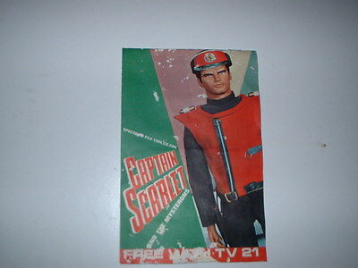 CAPTAIN SCARLET Sticker Book Free with TV 21 Gerry Anderson ALL STICKERS ARE IN