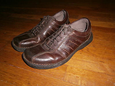 MENS BROWN LEATHER OXFORD SHOES Size 9.5 M 2501-FG STREETCARS