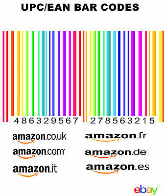 1000 UPC & EAN BARCODE codes NUMBERS BAR CODE NUMBER BARCODES for amazon