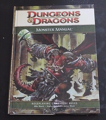 Dungeons and Dragons D&D MONSTER Manual 2008 WOTC Hardcover
