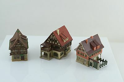 Vollmer 3 Half Timber Houses Built Up Z Scale
