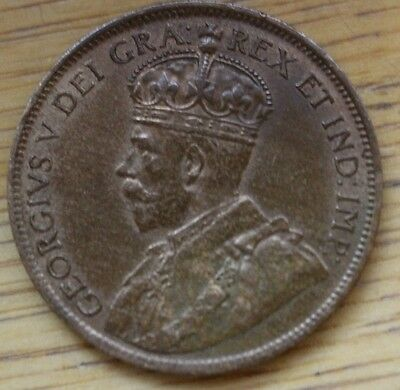Canada - 1917 1 One Cent Ef With Lustre - Free Uk Postage