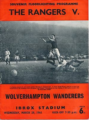 CUP WINNERS CUP SEMI FINAL 1961:  Rangers v Wolves