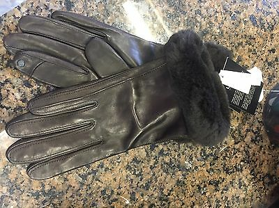 Ugg Australia Smart Gloves Brown Sz S & M Available $145 Cashmere