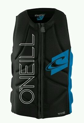 O'neill slasher impact comp vest wakeboard impact jacket blue black M New