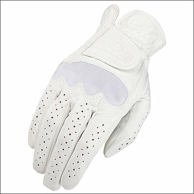 11 Size Heritage Spectrum Show Horse Riding Equestrian Glove Leather White