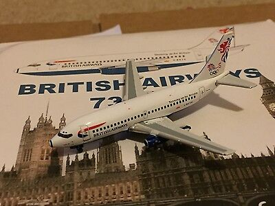 British Airways Olympics Boeing 737-200 G-BKYG Aircraft Model 1:400 Gemini Jets
