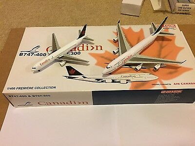 Air Canada 2 Pack Boeing 747 & 767 Aircraft Models 1:400 Scale Dragon Wings RARE