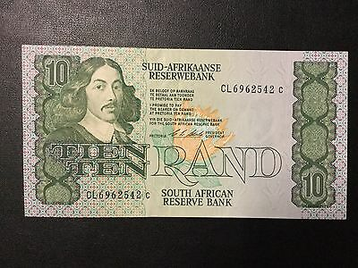 1990 South Africa Paper Money - 10 Rand Banknote !