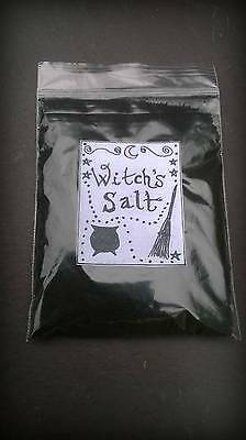Traditional Witch's Black Salt, spell craft, witchcraft, pagan, Wiccan, magic