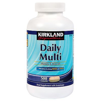 Kirkland Signature Daily Multi Vitamins & Minerals 500 Tablets Health Supplement
