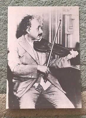ALBERT EINSTEIN Promotional postcard - photo by Roger-Violet : REX Selections