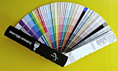 Sherwin Williams 2001 Color Fan Deck Paint Selector Specifier Interior Exterior