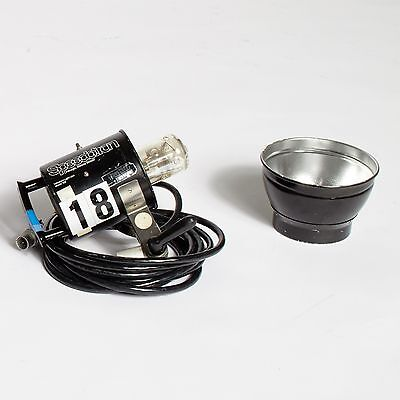 """Speedotron 102 flash head with flash tube and model light! 7"""" grid reflector!"""