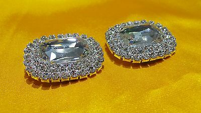 Rhinestone Crystal sparkling Party Shoe Boot Clips Pair